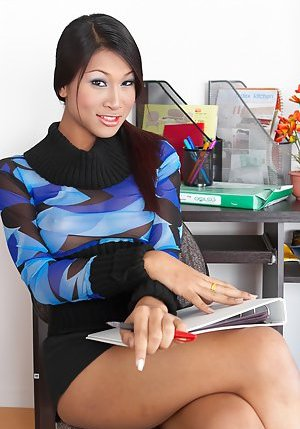 Ladyboy in Office Pics